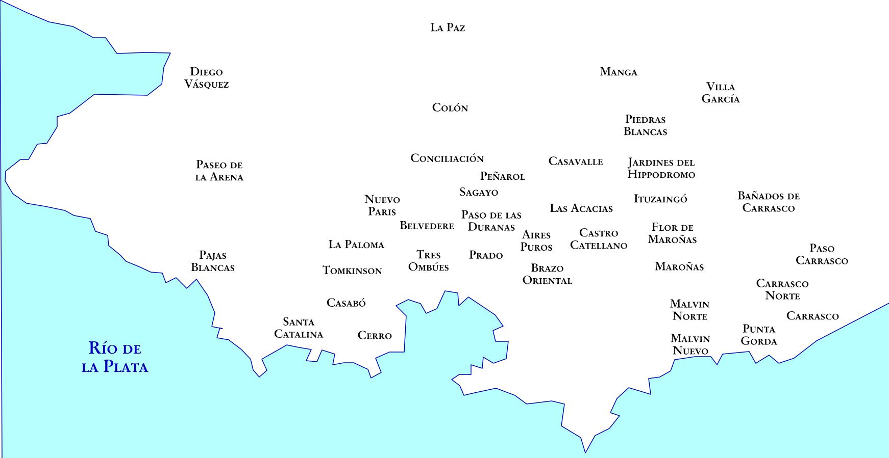 Montevideo et ses faubourgs